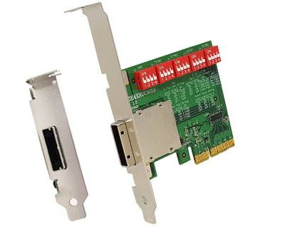 EPCIE4XRDCA01A|External PCIe (iPass x4 38pin compatible) to PCIe x4 Gen 3 Active (Redriver with Linear Equalization) Cable Adapter