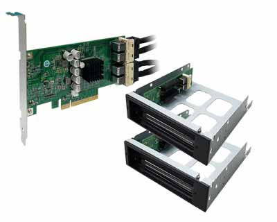 QIP4X-DIP4XD01|PCI Express x8 to Four PCIe x4 slots Expansion system