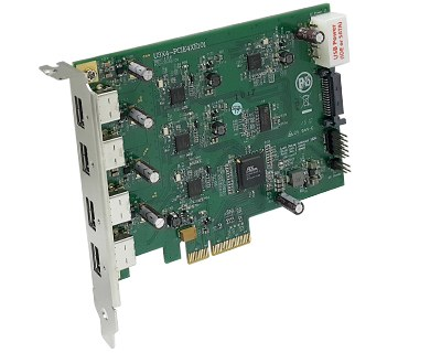 U3X4-PCIE4XE101|Quad Channel 4-port (1-port x 4) USB 3.0 to PCI Express x4 Gen 2 Host Card