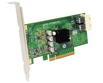 QIP2X-PCIE8XG301|Internal Dual PCIe x4 (two SFF-8643 36pin) to PCIe x8 Gen 3 Switch Host Card